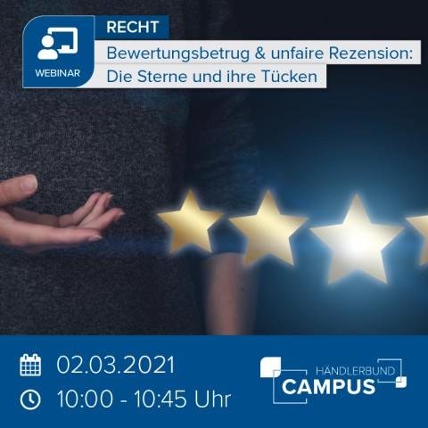 Bewertungsbetrug & unfaire Rezension: Die Sterne und ihre Tücken 1