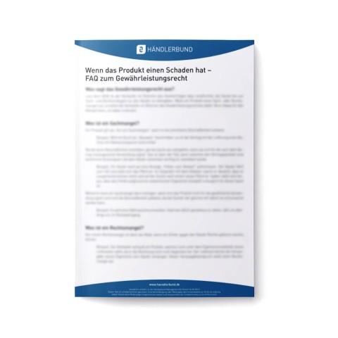 FAQ zum Gewährleistungsrecht (Hinweisblatt) 1