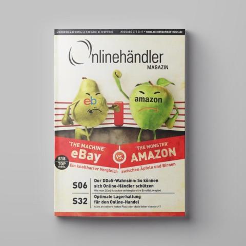 07/2017 Onlinehändler Magazin: eBay vs. Amazon – Ein knallharter Vergleich (Printheft) 1