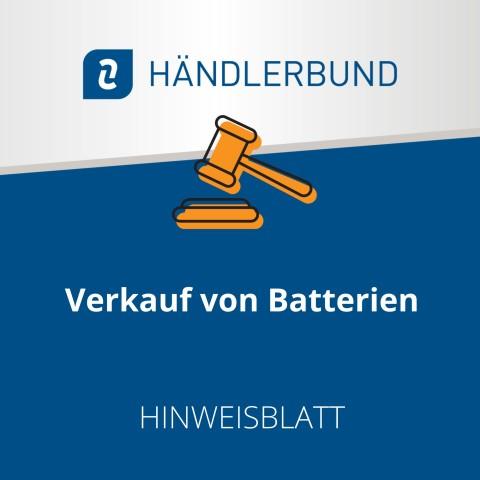Verkauf von Batterien (Hinweisblatt) 1