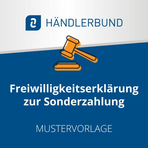 Freiwilligkeitserklärung zur Sonderzahlung (Mustervorlage) 1
