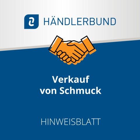Verkauf von Schmuck (Hinweisblatt) 1