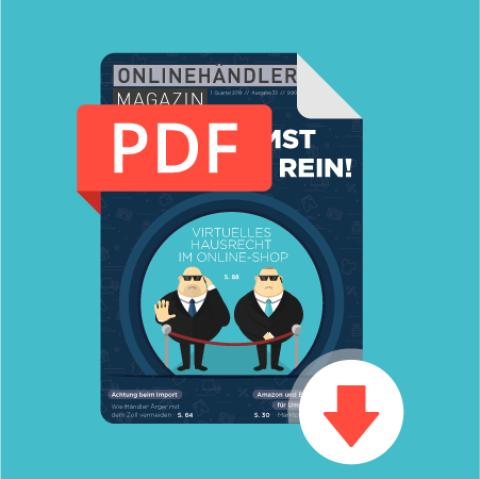 01/2019 Onlinehändler Magazin: Du kommst hier nicht rein! (PDF) 1
