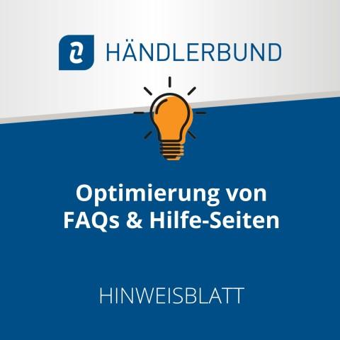 Optimierung von FAQs u. Hilfe-Seiten (Hinweisblatt) 1