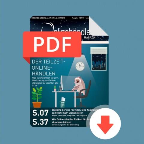10/2017 Onlinehändler Magazin: Verkaufen als Nebenjob (PDF) 1