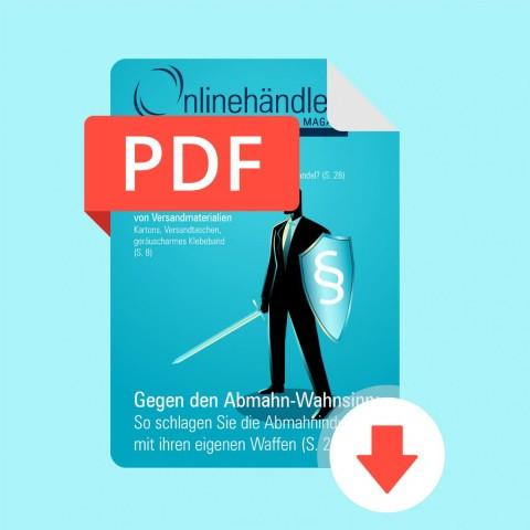 04/2017 Onlinehändler Magazin: Gegen den Abmahn-Wahnsinn (PDF) 1