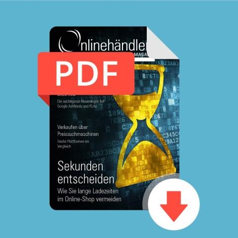 06/2016 Onlinehändler Magazin: Maßnahmen gegen lange Ladezeiten im Online-Shop (PDF) 1
