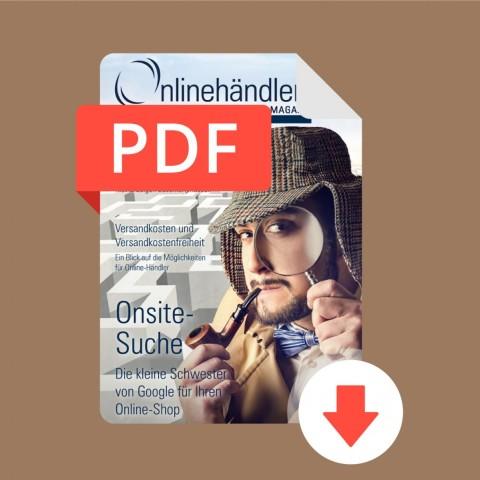 04/2016 Onlinehändler Magazin: Onsite-Suche im Online-Shop (PDF) 1