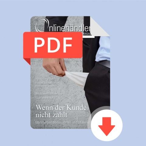02/2016 Onlinehändler Magazin: Wenn der Kunde nicht zahlt (PDF) 1