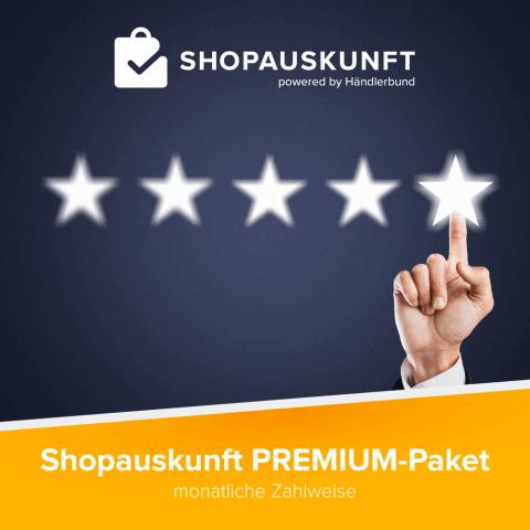 Shopauskunft.de: Premium-Paket Monatsabo 1