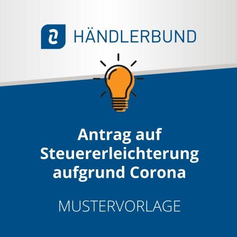 Antrag auf Steuererleichterung aufgrund Corona (Mustervorlage) 1