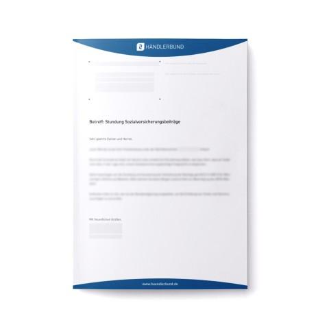 Stundung Sozialversicherungsbeiträge (Mustervorlage) 1