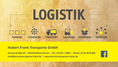 Partnerangebot: Hubert Frank Transport - Vergünstigte Lagerplätze 1