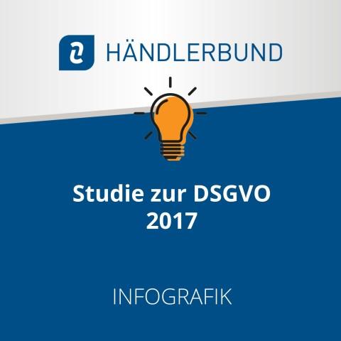 Händlerbund-Studie zur DSGVO, 2017 (Infografik) 1