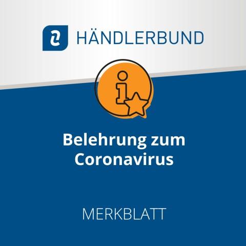 Belehrung von Mitarbeiter/innen zum Coronavirus (Merkblatt) 1