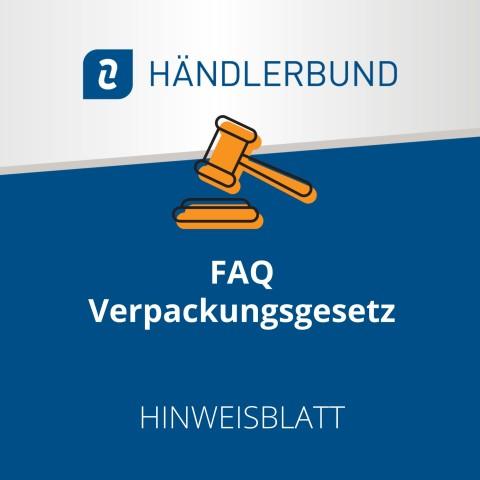 FAQ Verpackungsgesetz (Hinweisblatt) 1