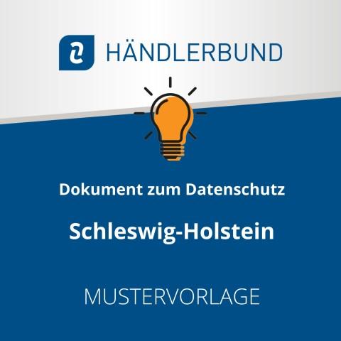 Dokumente zum Datenschutz in der Gastronomie während Corona: Schleswig-Holstein (Mustervorlage) 1