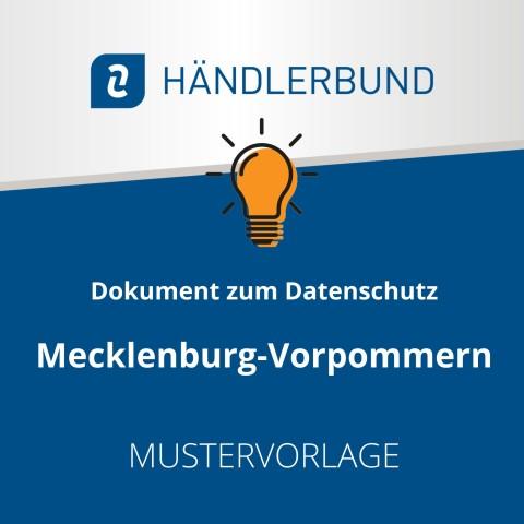 Dokumente zum Datenschutz in der Gastronomie während Corona: Mecklenburg-Vorpommern (Mustervorlage) 1