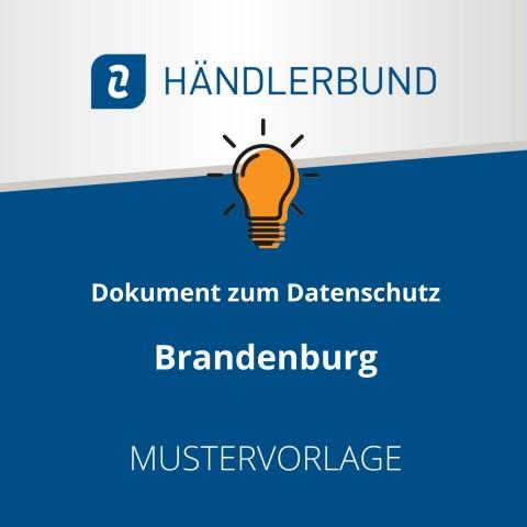 Dokumente zum Datenschutz in der Gastronomie während Corona: Brandenburg (Mustervorlage) 1