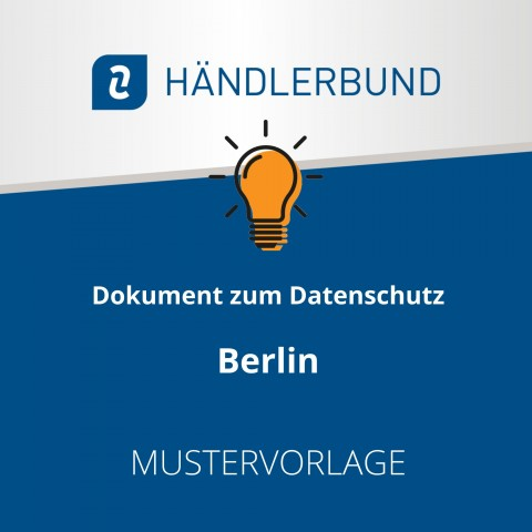 Dokumente zum Datenschutz in der Gastronomie während Corona: Berlin (Mustervorlage) 1