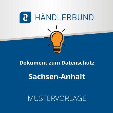 Dokumente zum Datenschutz in der Gastronomie während Corona: Sachsen-Anhalt (Mustervorlage) 1