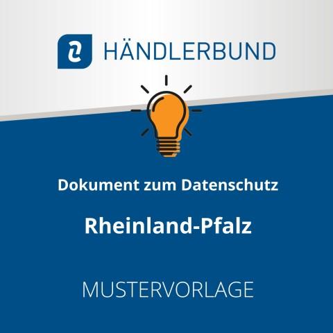 Dokumente zum Datenschutz in der Gastronomie während Corona: Rheinland-Pfalz (Mustervorlage) 1