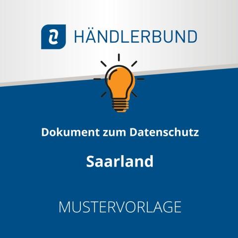Dokumente zum Datenschutz in der Gastronomie während Corona: Saarland (Mustervorlage) 1