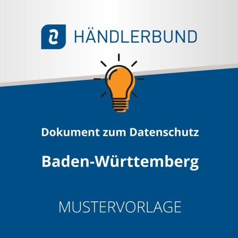 Dokumente zum Datenschutz in der Gastronomie während Corona: Baden-Württemberg (Mustervorlage) 1