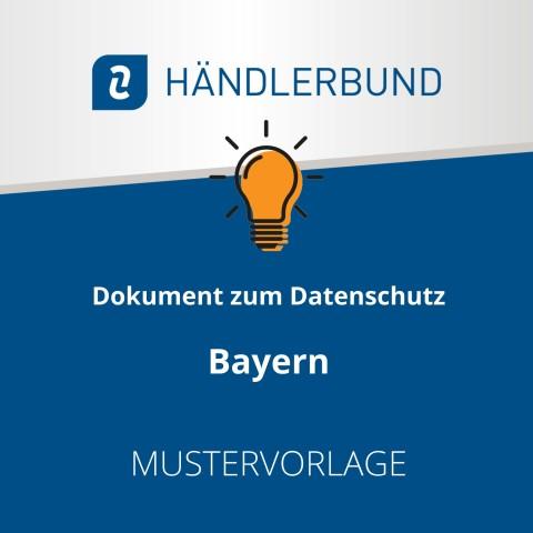 Dokumente zum Datenschutz in der Gastronomie während Corona: Bayern (Mustervorlage) 1