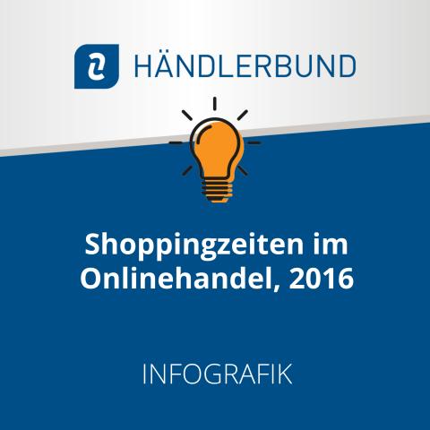 Shoppingzeiten im Onlinehandel, 2016 (Infografik) 1